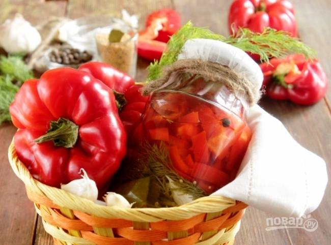 Консервация болгарского перца