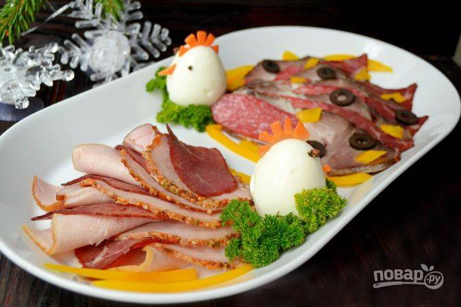 Мясное ассорти на Новый год