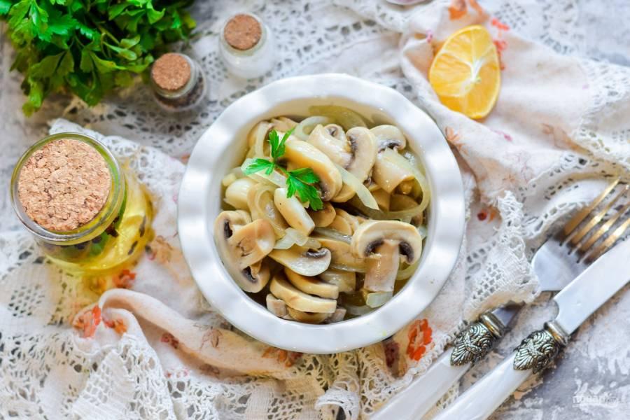 Маринованные грибы с уксусом