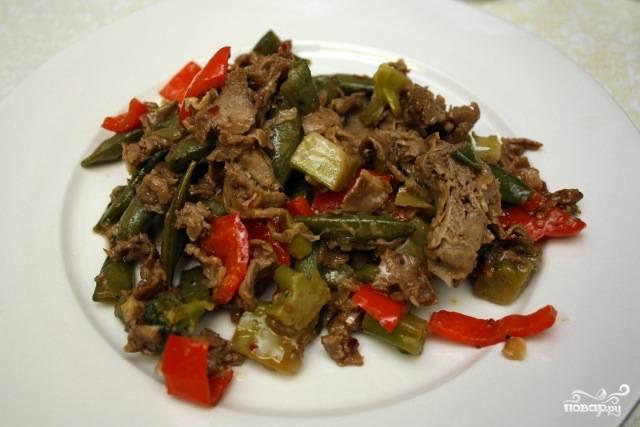 Гуляш из говядины с овощами