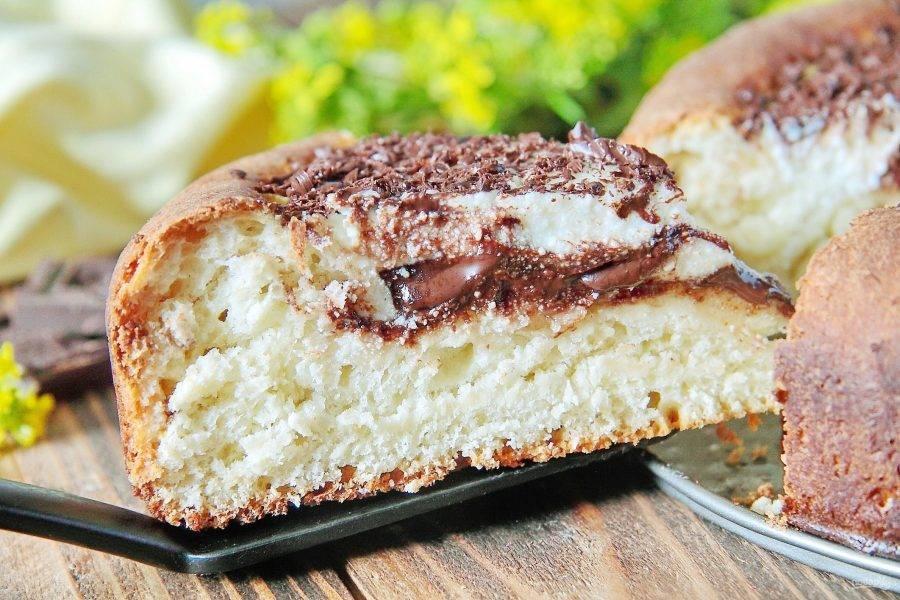 13. Тесто получается очень нежное, прекрасно сочетается с ароматной и вкусной творожно-шоколадной начинкой. Приятного аппетита!