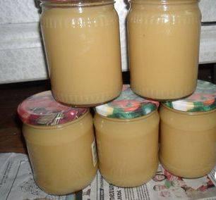 5. Часть убираем в прохладное место, а оставшееся пюре из яблок без сахара в домашних условиях сразу готово к употреблению.