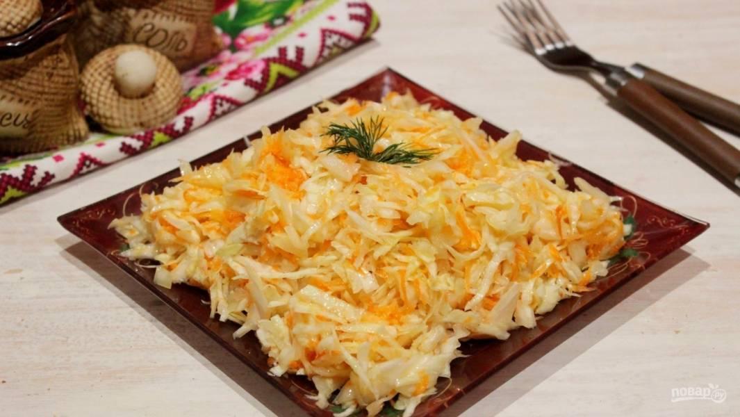 Салат из моркови по-деревенски