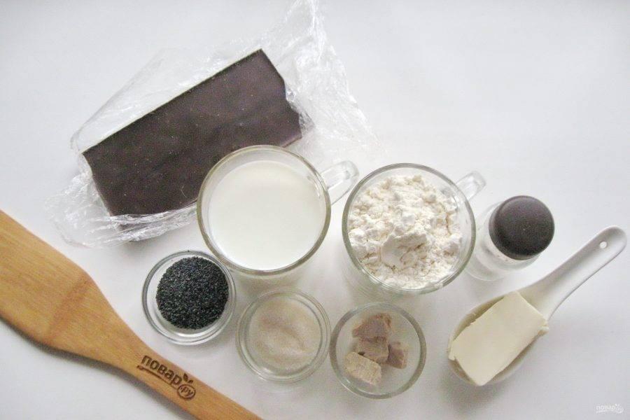 Подготовьте ингредиенты для приготовления булочек.