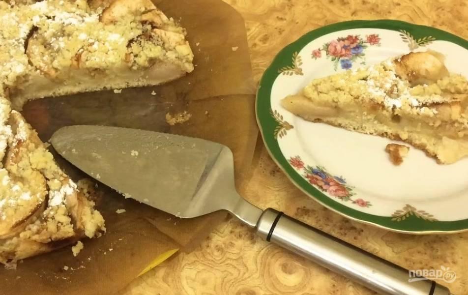 Нежный яблочный пирог без яиц