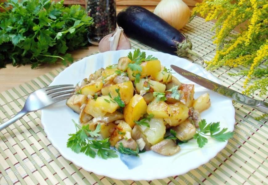 Необыкновенно ароматный и вкусный картофель со вкусом грибов готов!