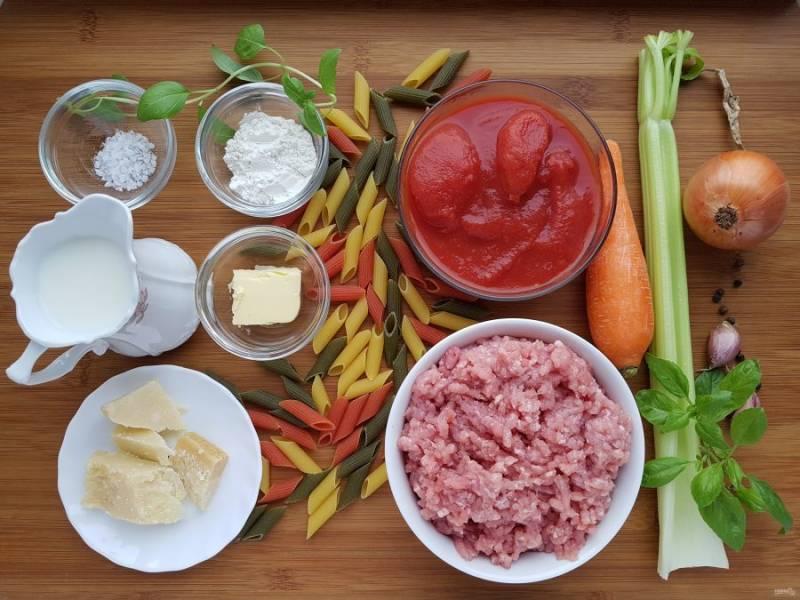 Для начала подготовьте все ингредиенты.