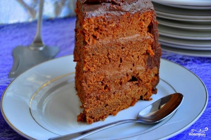 """18. Вот и все, теперь вы знаете, как приготовить торт """"Пища дьявола"""". Приятного аппетита!"""