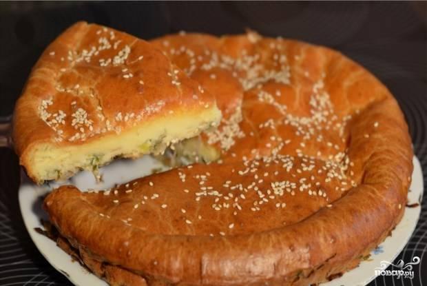 Ленивый капустный пирог