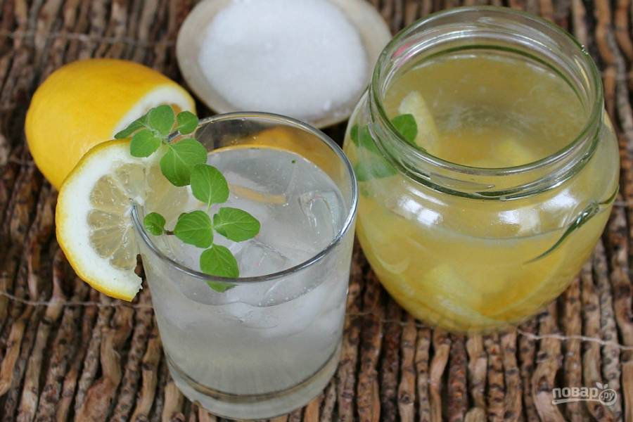 Морс из лимона