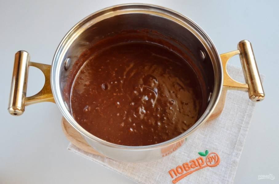 Домашняя Нутелла готова! Но для еды она слишком горячая, остудите ее в холодильнике. Угощайтесь!