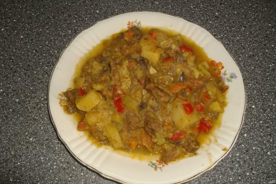 Овощное рагу с говядиной