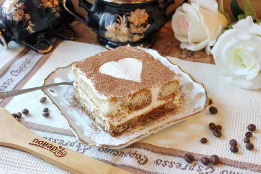"""Замечательный торт """"Тирамису"""" подойдет к самым большим праздникам в вашем доме."""