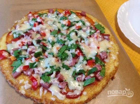 И вот наша пицца готова! Довольны все!