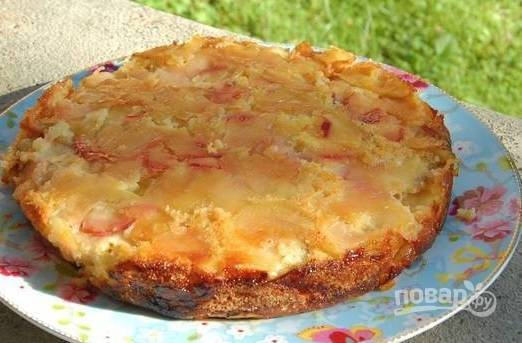6. Яблочная шарлотка на сидре в домашних условиях готова. Приятного аппетита!