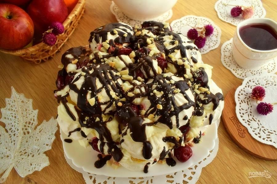 Торт из зефира с кремом