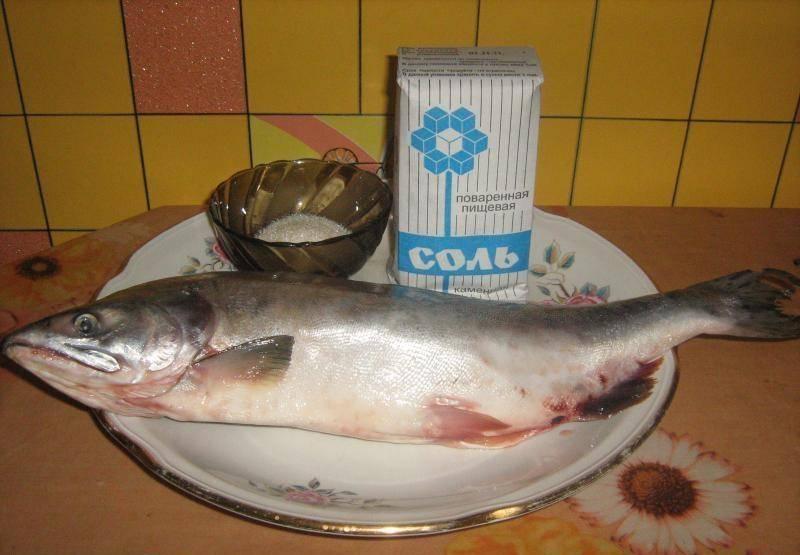 1. Горбушу вымойте, почистите от чешуи, выпотрошите, отрежьте у неё плавники, хвост и голову (их можете оставить для приготовления ухи). Если у вас замороженная рыба, предварительно ее полностью разморозьте естественным образом.