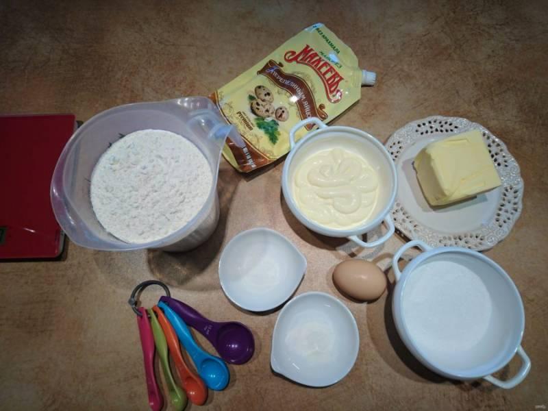 1. Приготовьте продукты для печенья.