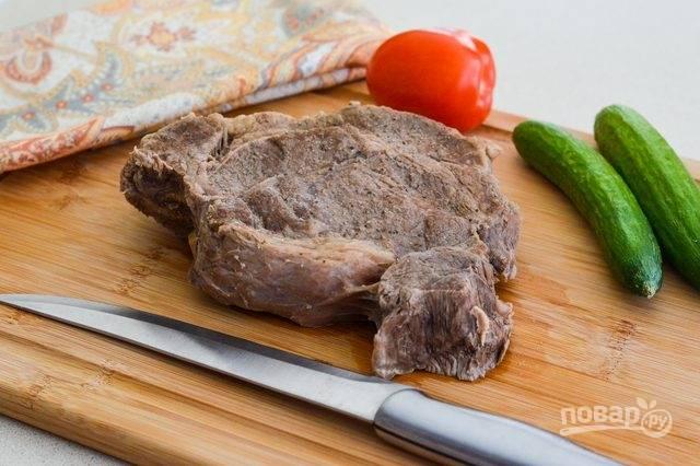 5. Наша мягкая отварная говядина готова.