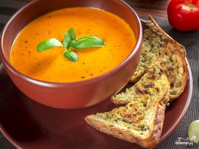 Томатный суп со сливками