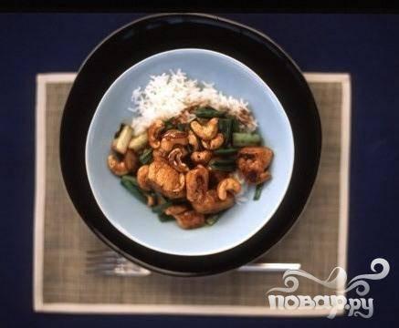 Курица с рисом и орехами кешью