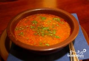 Острый суп харчо