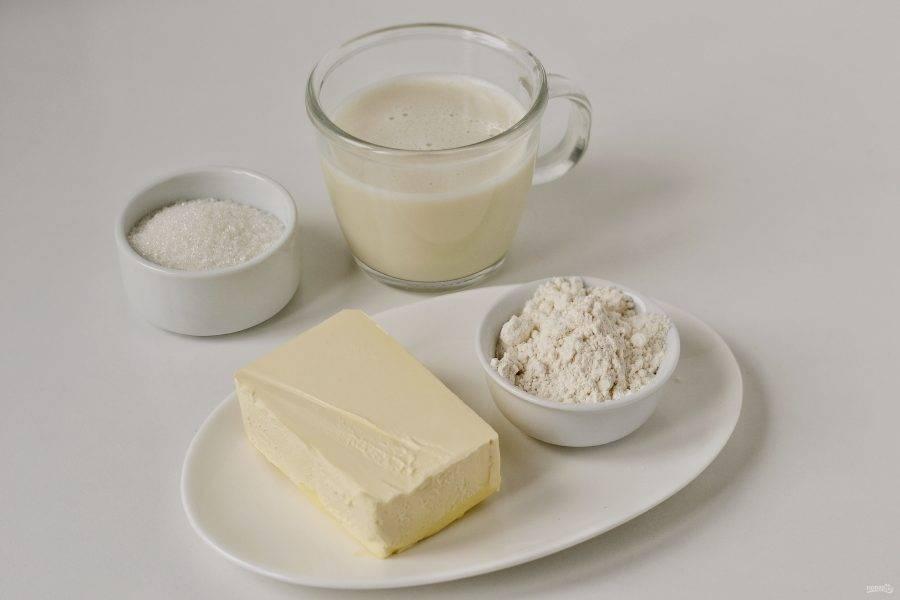 Подготовьте все ингредиенты для крема.