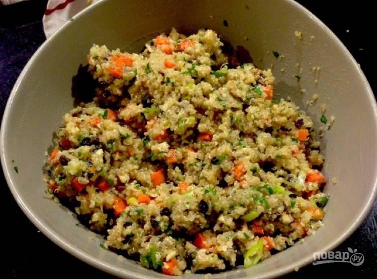 Салат с киноа и морковью
