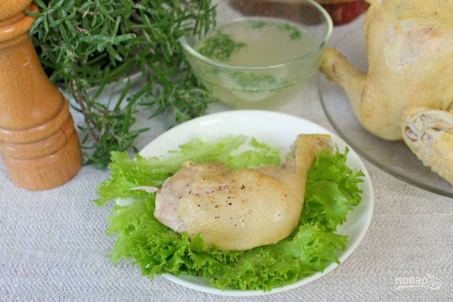 Вареный цыпленок