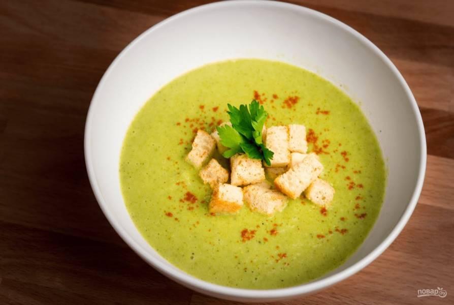 Вкусный сливочный крем-суп с брокколи
