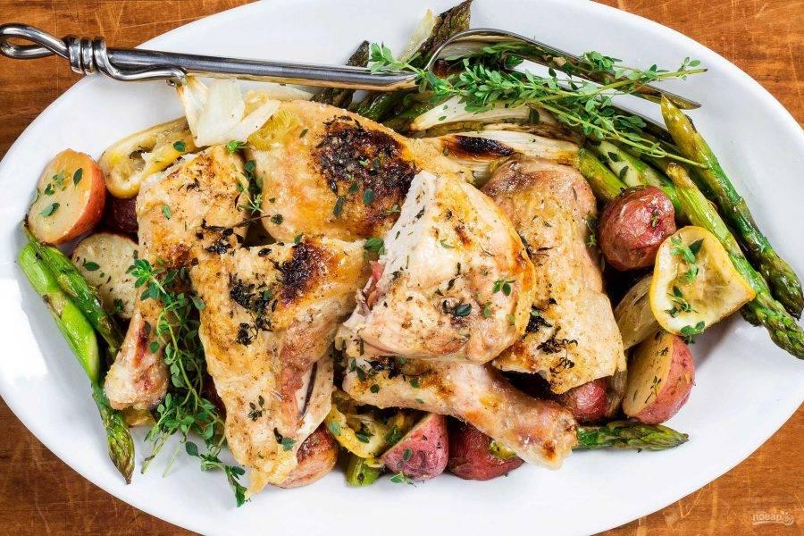 После приготовления рекомендую накрыть форму фольгой плотно и дать блюду постоять минут 20. Затем можно подавать к столу.