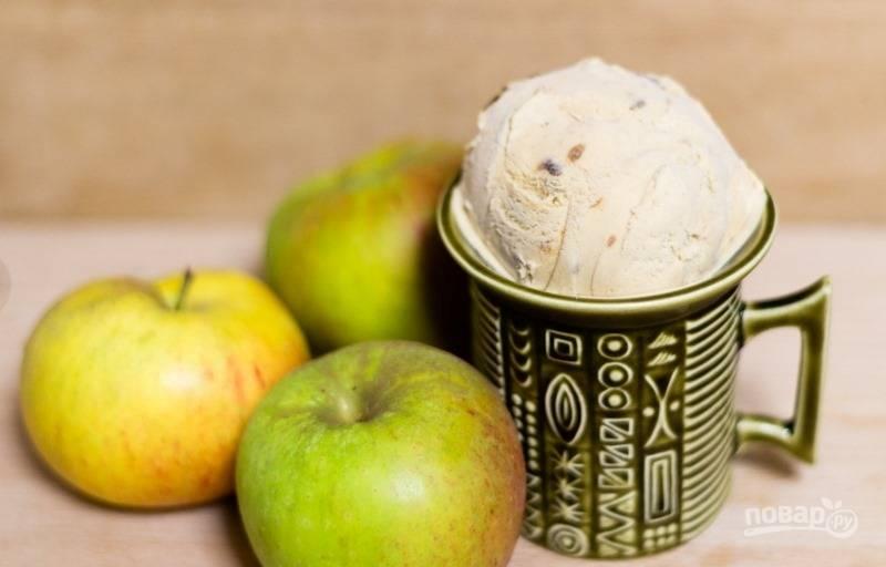 Яблочное мороженое в мороженице