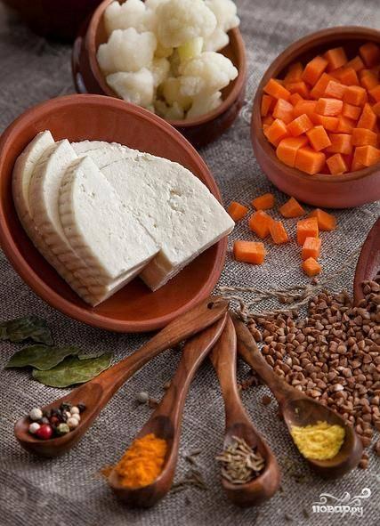 Подготовим все необходимые ингредиенты для приготовления нашего блюда.