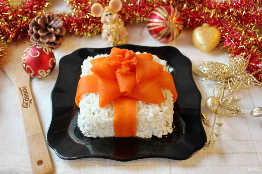 """Салат """"Новогодний подарок"""""""