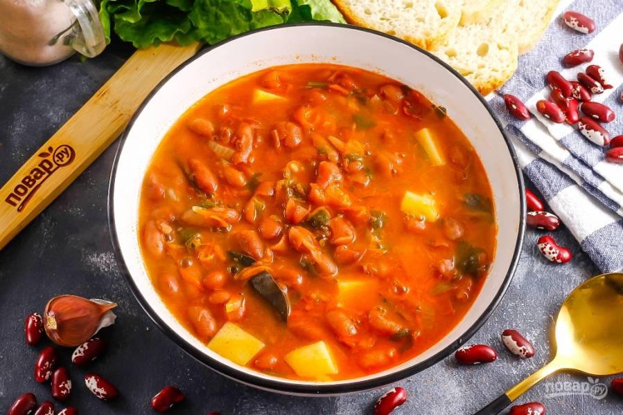 Фасолевый суп с томатной пастой