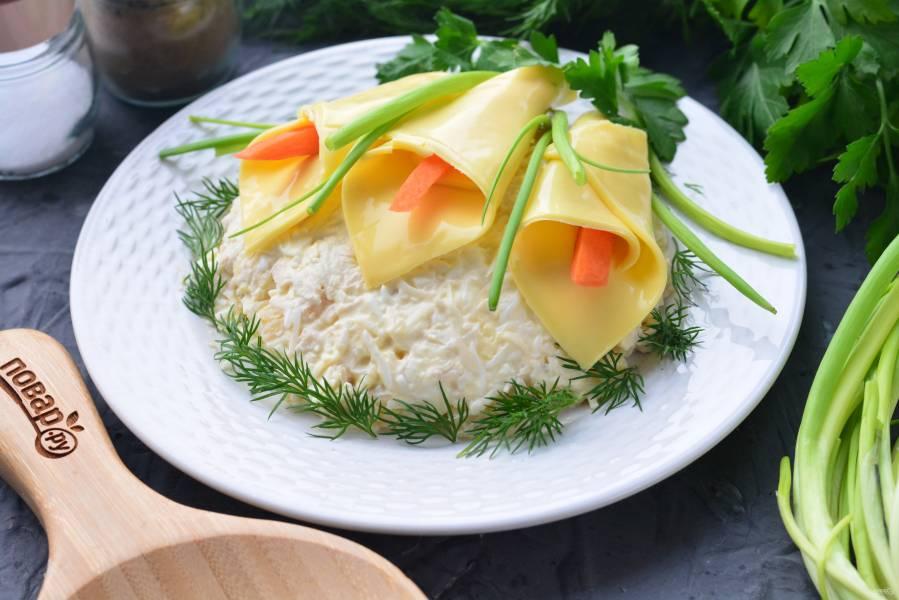 """Салат """"Каллы"""" с ананасом"""