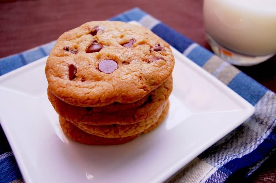 Печенье с шоколадом и апельсином