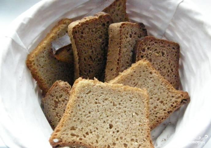 Из ржаной закваски получается вкусный ржаной хлеб. Приятного аппетита!