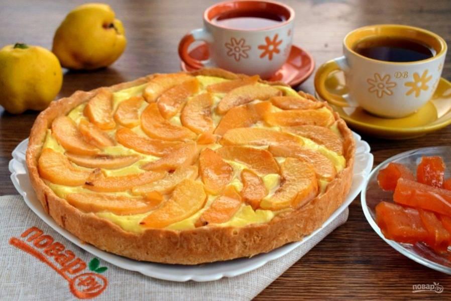 Пирог полностью остудите в форме. Верх пирога по желанию можно смазать фруктовым сиропом Приятного аппетита!