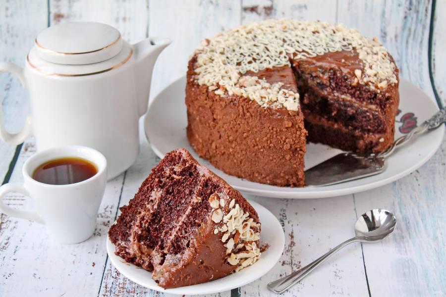 Шоколадный торт с масляным кремом