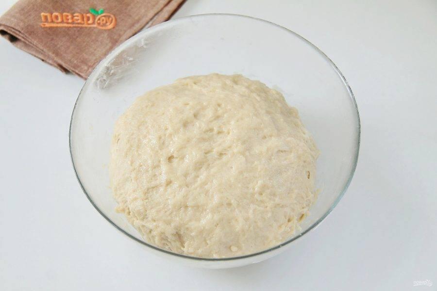 Муки может уйти чуть больше или меньше, чем указано в рецепте. Тесто должно быть мягкое и чуть липкое. Соберите его в шар, смажьте растительным маслом, накройте и уберите в теплое место примерно на час.