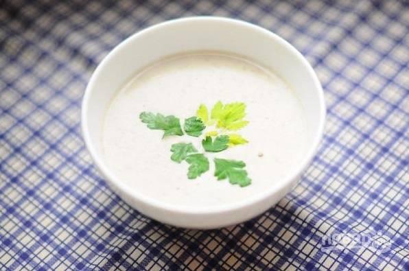 Крем-суп с грибами и сыром