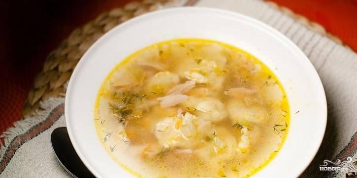 Суп из куриных сердечек с клецками