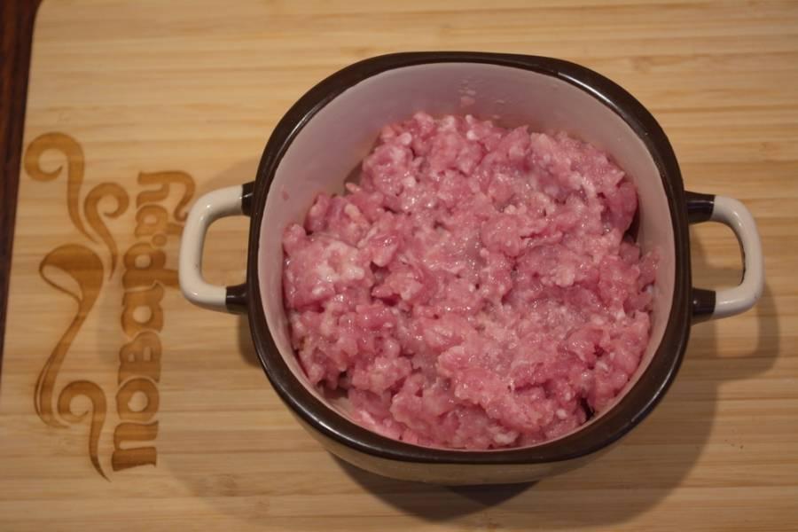 Перекрутите на мясорубке фарш или возьмите готовый.
