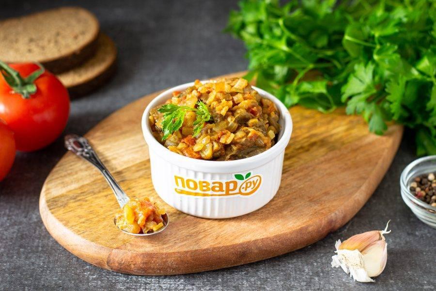 Баклажанная икра по-индийски готова, приятного аппетита!
