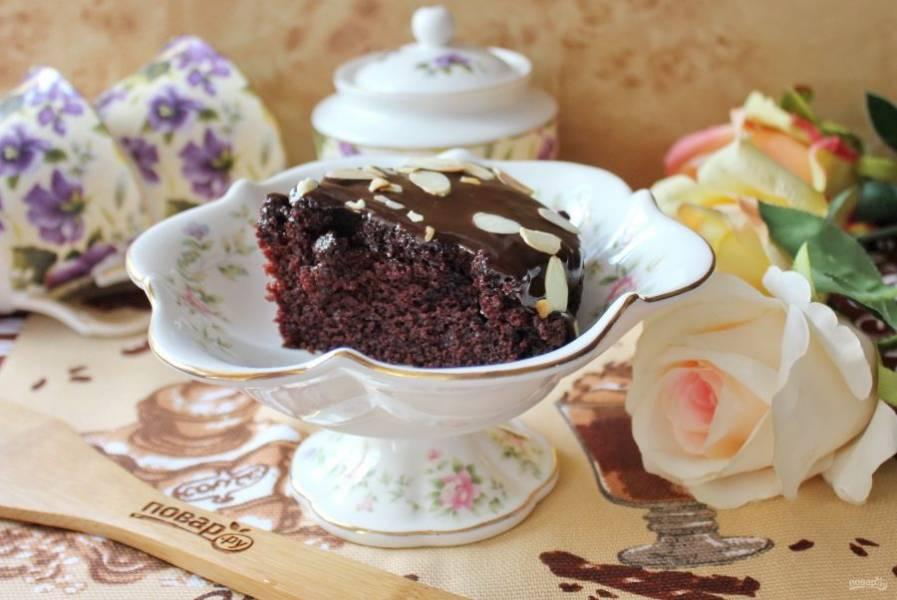 """""""Крейзи кейк"""" нарежьте и подавайте на десерт к чаю, кофе."""