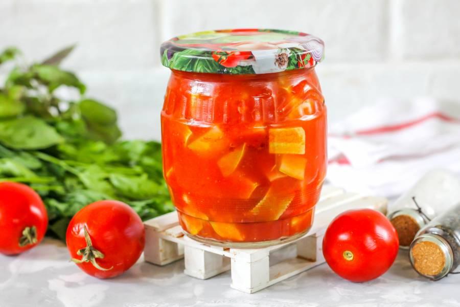 Кабачки в томатном соке