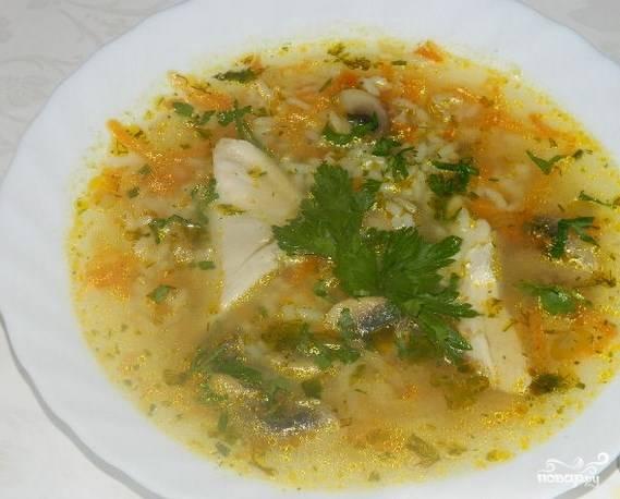 Быстрый суп с курицей