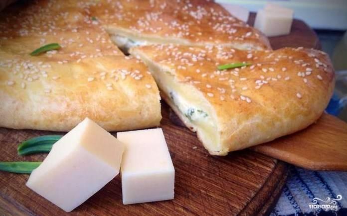 Хачапури из творожного теста с сыром