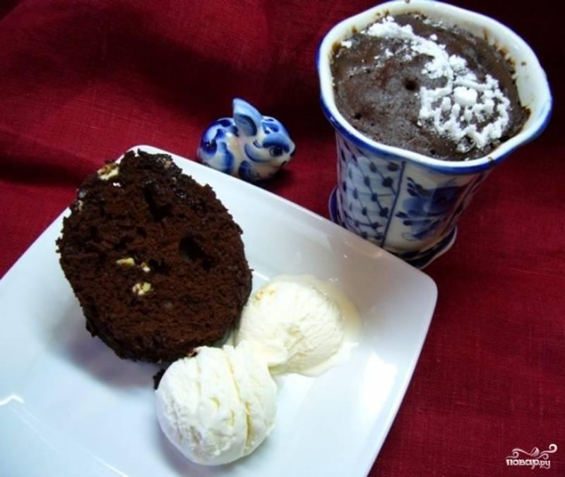 Кофейный кекс в микроволновке